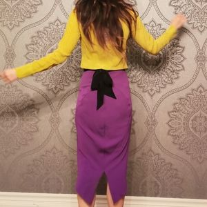 Diane von Furstenburg 100% silk skirt